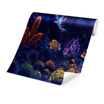 Product picture Photo Wall Mural - Dolphins World -...