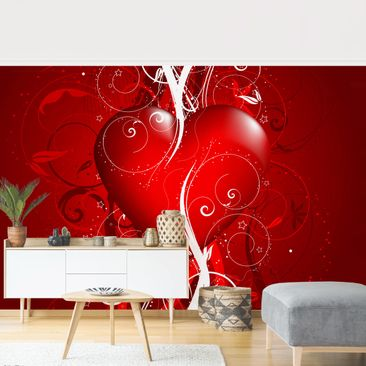Product picture Photo Wall Mural - Floral Heart -...