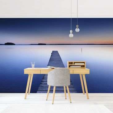 Product picture Photo Wall Mural - Sunset At The Wharf -...