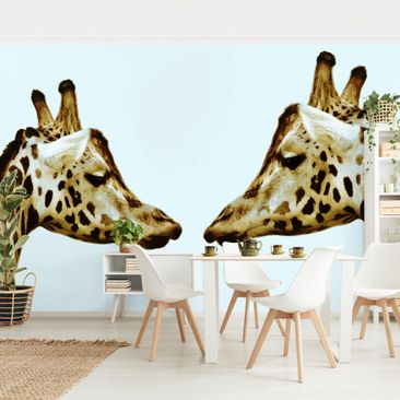 Product picture Photo Wall Mural - Giraffes In Love -...