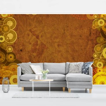 Product picture Photo Wall Mural - Golden Circles -...