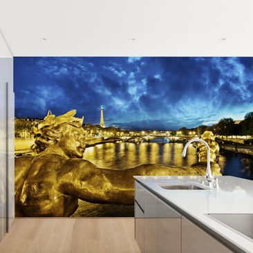 Product picture Photo Wall Mural - Golden Paris -...