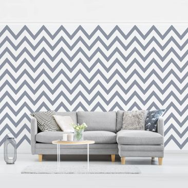 Produktfoto Photo Wall Mural - Gray And White Zigzag...