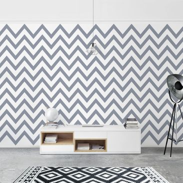 Product picture Photo Wall Mural - Gray And White Zigzag...
