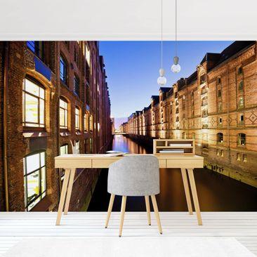 Product picture Photo Wall Mural - Hamburg Warehouse...