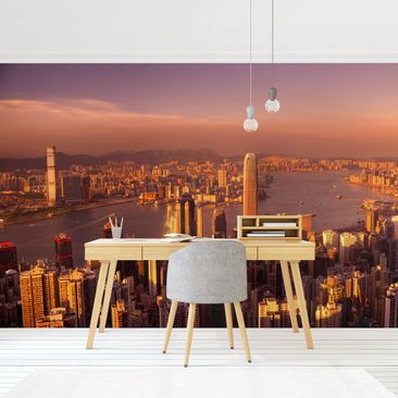 Product picture Photo Wall Mural - Hong Kong Sunset -...