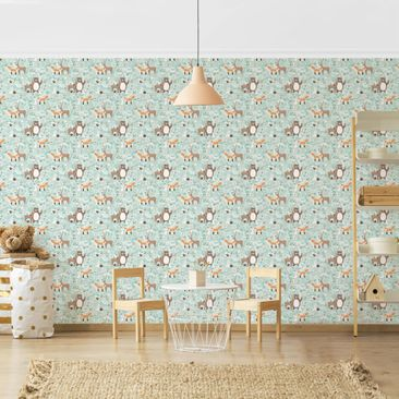 Product picture Photo Wall Mural - Pattern For Kids -...