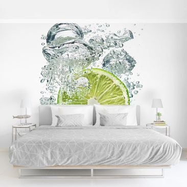 Product picture Photo Wall Mural - Lime Bubbles -...