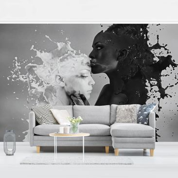 Product picture Photo Wall Mural - Milk & Coffee Kiss...