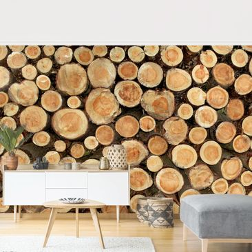 Product picture Photo Wall Mural - No.YK18 Logs -...