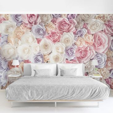 Product picture Photo Wall Mural - Pastel Paper Art...