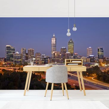 Product picture Photo Wall Mural - Perth Skyline -...