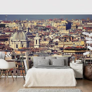Product picture Photo Wall Mural - Rome Rooftops -...
