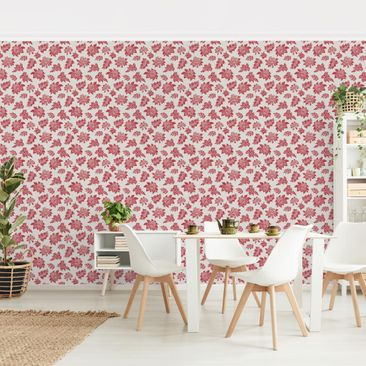 Product picture Photo Wall Mural - Red Baroque Floral...