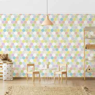 Product picture Photo Wall Mural - No.YK52 Hexagon...