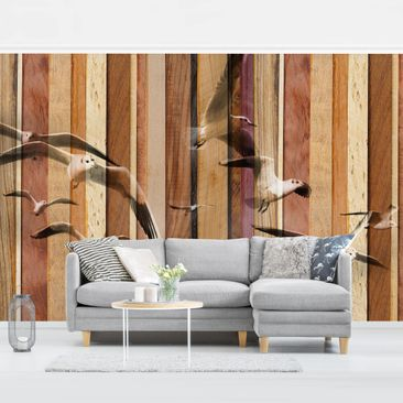 Product picture Photo Wall Mural - Seagulls -...