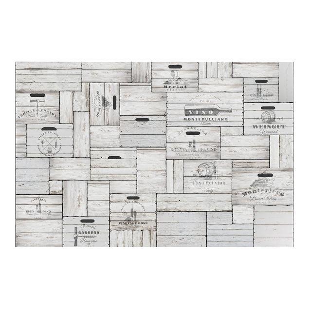 Produktfoto Tapete selbstklebend - Shabby Holzkisten - Fototapete Querformat