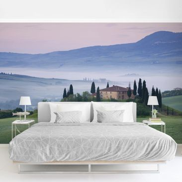 Product picture Photo Wall Mural - Sunrise In Tuscany -...