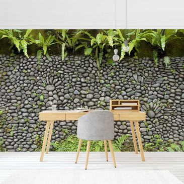 Product picture Photo Wall Mural - Stone Wall With...