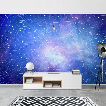 Product picture Photo Wall Mural - Constellation Sky Map...
