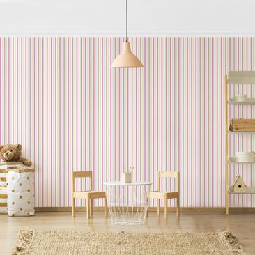 Product picture Photo Wall Mural - No.YK48 Strip Pink...