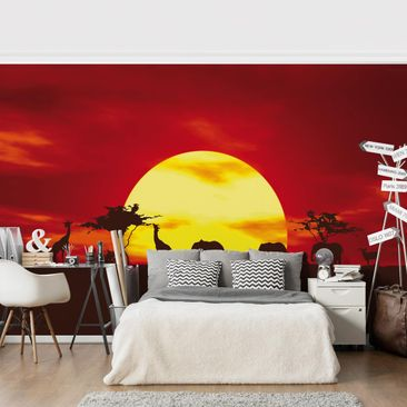 Product picture Photo Wall Mural - Sunset Caravan -...