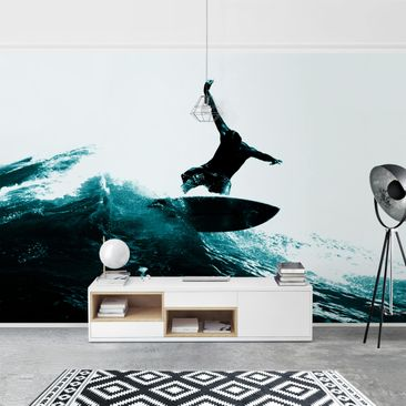 Product picture Photo Wall Mural - Surfing Hero -...