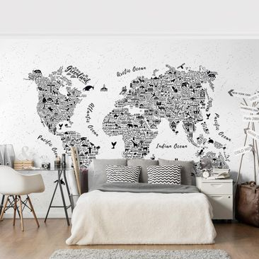 Product picture Photo Wall Mural - Typography White...