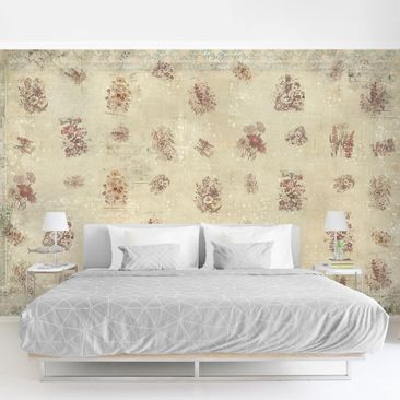 Product picture Photo Wall Mural - Vintage Floral...