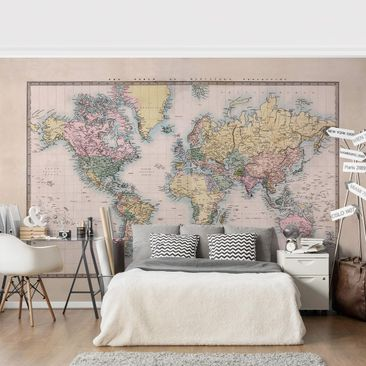 Product picture Photo Wall Mural - Vintage World Map...