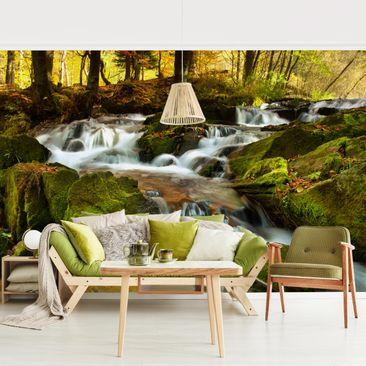 Product picture Photo Wall Mural - Waterfall Autumnal...