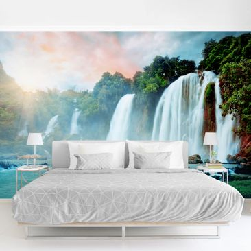 Product picture Photo Wall Mural - Waterfalls Panorama -...