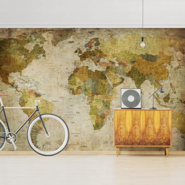 Product picture Photo Wall Mural - Map Of The World -...