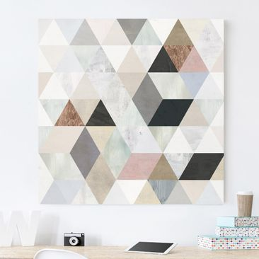 Product picture Canvas Art - Watercolor Mosaic With...
