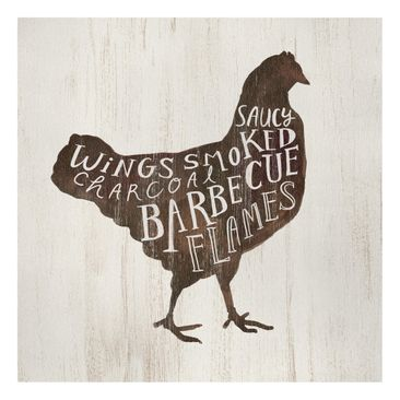 Product picture Canvas Art - Farm BBQ - Chicken - Square...