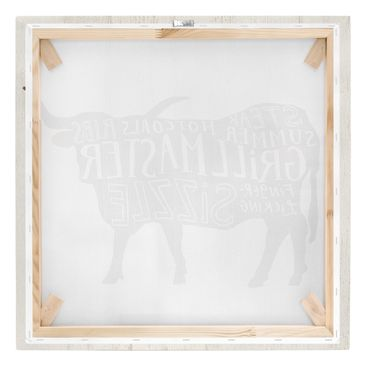Product picture Canvas Art - Farm BBQ - Beef - Square...