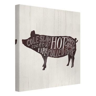 Product picture Canvas Art - Farm BBQ - Pig - Square 1:1