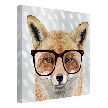 Product picture Canvas Art - Animals With Glasses - Fox...