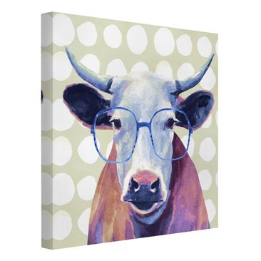 Product picture Canvas Art - Animals With Glasses - Cow...