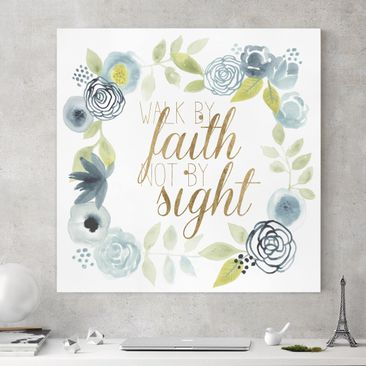 Product picture Canvas Art - Garland With Saying - Faith...