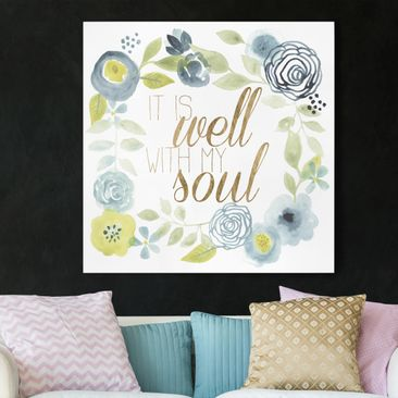 Product picture Canvas Art - Garland With Saying - Soul...