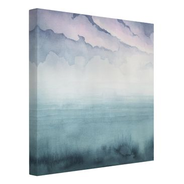 Product picture Canvas Art - Dusk On The Bay I - Square...