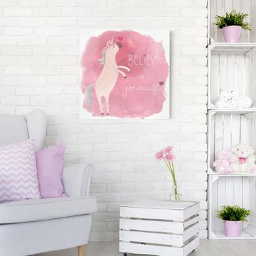 Product picture Canvas Art - Unicorn Troop - Believe -...