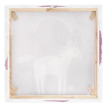 Product picture Canvas Art - Unicorn Troop - Love -...