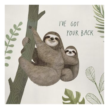 Product picture Canvas Art - Sloth Sayings - Back -...