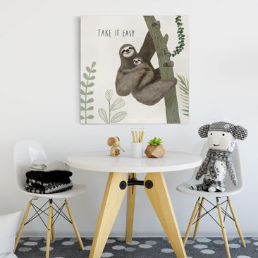 Product picture Canvas Art - Sloth Sayings - Easy -...