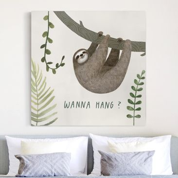 Product picture Canvas Art - Sloth Sayings - Hang -...