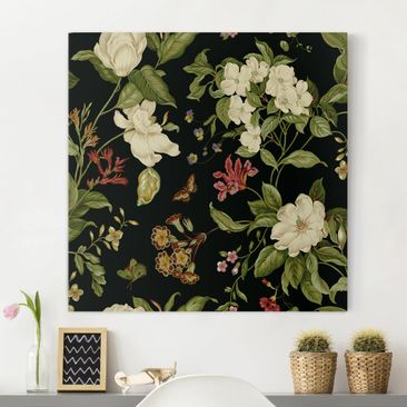 Produktfoto Canvas Art - Garden Flowers On Black II...