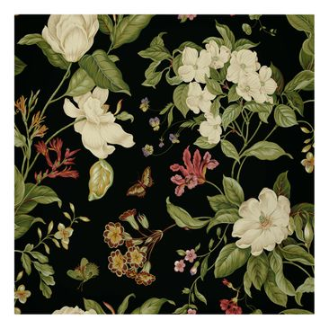Product picture Canvas Art - Garden Flowers On Black II...