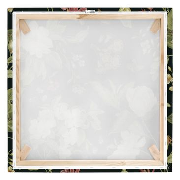 Product picture Canvas Art - Garden Flowers On Black I -...